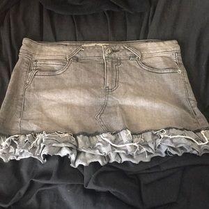 Light Grey Denim Skirt!!